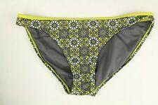 Converse ONE STAR Bikini Bottom Geometric Gray Yellow Womens Size M