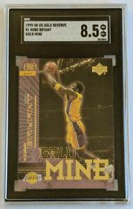KOBE BRYANT 1999-00 UPPERDECK UD GOLD RESERVE GOLD MINE INSERT SP #R1 SGC 8.5 LN