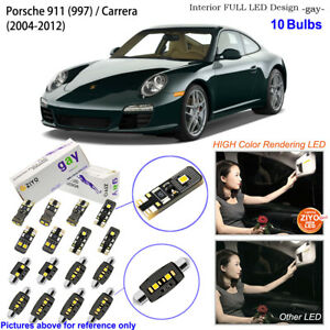 10 Bulb Deluxe LED Interior Dome Light Kit White For Porsche 911 (997) / Carrera