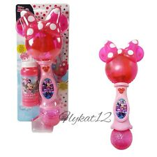 Disney Minnie Mouse Princess Bubble Blower LED Glow Light-Up Musical Wand