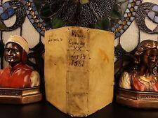 1581 1st ed Plautus Comedies Greek Roman Latin Theatre Shakespeare influence