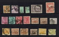 AUSTRALIA PRE-DECIMAL...MIXED STATE STAMPS...19 STAMPS