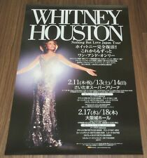 WHITNEY HOUSTON Japan PROMO ONLY official TOUR POSTER official 2010 not-for-sale