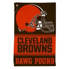 """CLEVELAND BROWNS ALL PURPOSE GOLF TAILGATE TOWEL 16""""X25"""" HOOK AND GROMMET"""