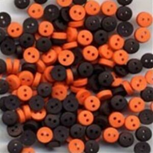 TINY ROUND HALLOWEEN BUTTONS 2 Hole Sewing Card Making Scrapbooking Stamping
