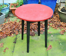 Original Vintage Retro Round Red Formica Topped Table. Pub / Club. Wirral