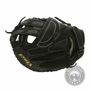 USED Vinci Gloves JCV-VM Fastpitch Softball Catchers Mitt in Black - 33""