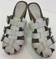 Spot On light grey buckled high heel mules, brand new with box, size 3 UK 36 EU.