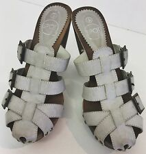 Spot On light grey buckled high heel mules, brand new with box, size 4 UK, 37 EU