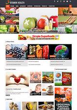 Established VITAMINS Health Nutrition affiliate website for sale Mobile Friendly