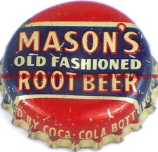 1940s Minnesota RED WING Coca Cola Bottling MASON'S ROOT BEER Cork Crown
