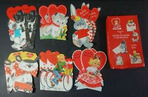 Vintage 1960s Ambassador Valentines Day Cards Lot of 12 Unused