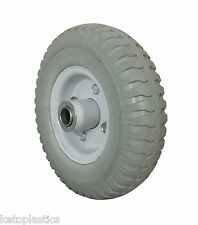 2.50 - 4 Puncture Proof Sack Truck Jockey GREY Wheel Trolley Cart 20mm BORE