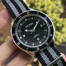 OCYSA Seamaster Homage Diver Style Watch Black Grey Strap Bond 007 Spectre