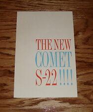 Original 1962 Mercury Comet S-22 Foldout Sales Brochure 62