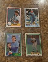 (4) Danny Ainge 1981 Topps Traded Fleer Donruss Rookie Card Lot RC 1982 Jays NBA