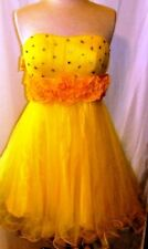 CINDERELLA YELLOW STRAPLESS PROM DRESS SIZE, SM