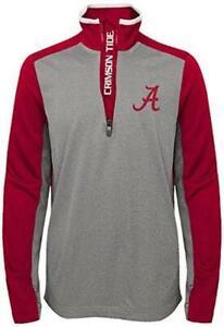 Alabama Crimson Tide Youth Long Sleeve Shirt 1/4 Zip Top w/ Pockets Youth XL 18