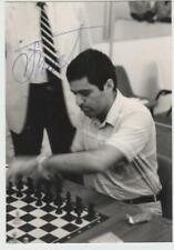Échecs Chess Schach GARRY KASPAROV Dubaï 1986 signed original photo - autograph