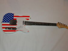 JOE BONAMASSA SIGNED USA FLAG ELECTRIC GUITAR LES PAUL LEGEND PROOF TELE JSA COA