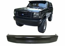 Black Steel Paintable Front Bumper For 1992-1998 Ford F-150 F-250 Bronco New USA
