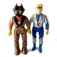 Nova & Demon Vintage Dino Riders Action Figures Lot Set 1987 Tyco 80s