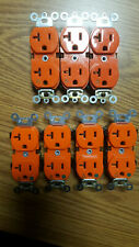LEVITON 5362-IG DUPLEX RECEPTACLE ISOLATED GROUNDING ORANGE 20A-125V (Lot of 7 )