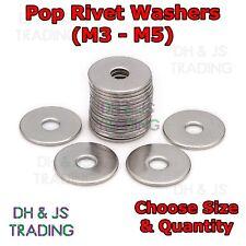 """Rivet Washers - Steel Blind Washer Backing Pop Rivet M3 - M5 (1/8"""" - 3/16"""")"""