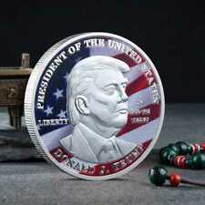 2020 President Donald Trump Inaugural Silver Plated Commemorative Novelty Coin