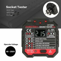 HABOTEST HT106D Voltage Test Socket Testers Detector Ground Zero Line Plug EU LN