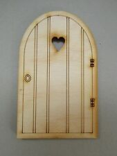 Large Wooden Fairy Door – XL Plain Heart Fairy Door Craft Shape. Made in the UK