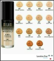 MILANI Conceal + Perfect 2 In 1 Foundation + Concealer 30ml  All Shades Original