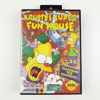 Krustys Super Fun House | Sega Genesis | Works on Mega Drive | Complete