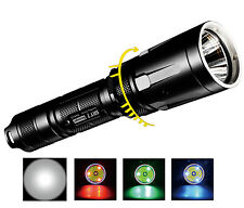 Nitecore SRT7 960 lumen Smart Ring Tactical Flashlight w/ RBG Color LEDs - Black