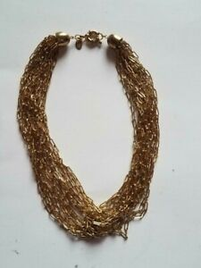 VINTAGE FRANCESCA VISCONTI GOLD TONE CHAIN NECKLACE 88 GRAMS