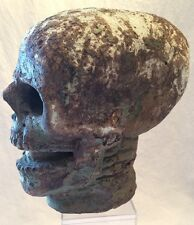 Faux HUMAN SKULL skeleton HALLOWEEN  plaster MACABRE vintage 20th CENTURY modern
