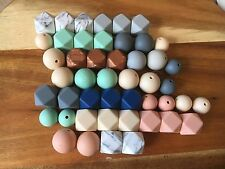 Bulk Hexagon 17mm Silicone Bead 47 Pack - Was Teething Aus Seller Free Postag