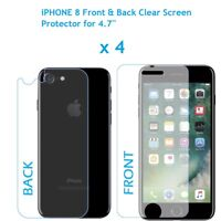 """4 x Front and Back LCD Screen Protector Guard for Apple iPhone 8 for 4.7"""" Screen"""