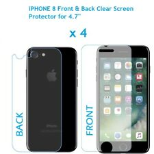"4 x Front and Back LCD Screen Protector Guard for Apple iPhone 8 for 4.7"" Screen"