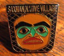 Saxman Native Village Lapel Pin - Ketchikan Alaska USA Totem Pole Eskimo Hat Pin
