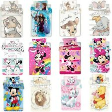 Disney Kleinkind Bettwäsche Set 100x135 40x60cm 100% Baumwolle Duvet Kinder NEU