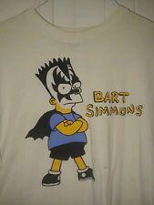 KISS Gene Simmons BART SIMPSON Rare Original VINTAGE T SHIRT XL THE SIMPSONS