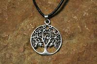 Anhänger Zauberbaum Keltischer Lebensbaum Silber plus Lederband Baum