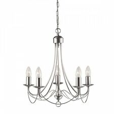 Searchlight Maypole 5 Light Multi Arm Ceiling Light in Satin Silver 6345-5SS