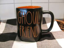 New Rae Dunn Black & Orange GHOUL FRIEND Halloween Coffee Mug Cup