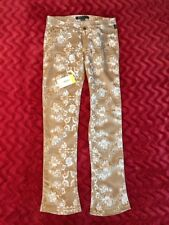 Versace Jeans Couture Rare! Tan Flower Patterned Corduroy Boot Cut Jeans US 10