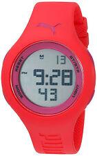 Puma  Women's Pink Rubber Grey Digital Dial Watch