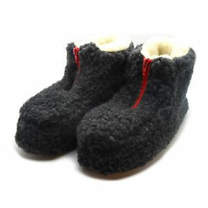 WOMENS LADIES SLIPPERS WARM FLUFFY FUR LINED ANKLE SLIP ON BOOTS BOOTIES RZ