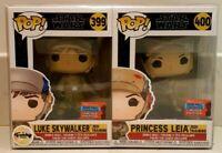 Funko Pop! Princess Leia 400 & Luke Skywalker 399 SDCC 2020 Pop! Star Wars