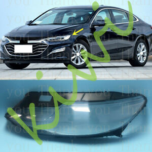 Left Side Lucency Headlight Cover With Glue For Chevrolet Malibu 2019-2021s
